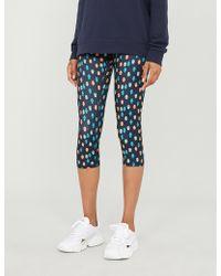 The Upside Evil Eye Hamsa-print High-rise Stretch-jersey leggings - Blue