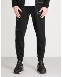 HUGO - Contrast-trim Cotton-jersey Jogging Bottoms - Lyst