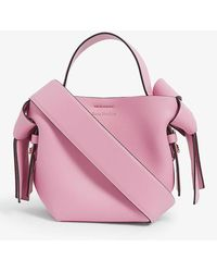 Acne Studios Musubi Micro Leather Cross-body Bag - Pink