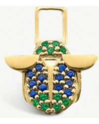 The Alkemistry - Robinson Pelham 14ct Yellow Gold And Sapphire And Tsavorite Scarab Earwish - Lyst