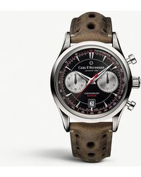 Carl F. Bucherer - 00.10919.08.33.02 Manero Flyback Stainless Steel And Kudu Leather Watch - Lyst