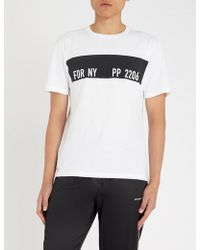 Replay - Sport Lab Rubberised-logo Cotton-jersey T-shirt - Lyst