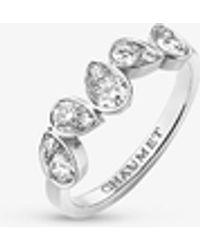 Chaumet Joséphine Ronde D'aigrettes 18ct White-gold And 0.53ct Brilliant-cut Diamond Ring - Metallic