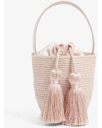 Cesta Collective Party Pail Mini Sisal Bucket Bag - Pink