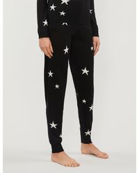 Chinti & Parker Star Tapered Cashmere jogging Bottoms - Black