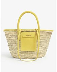 Jacquemus Le Panier Soleil Woven Straw Tote Bag - Yellow