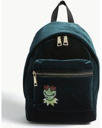 Sandro Kermit The Frog Velvet Backpack - Green