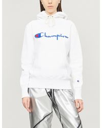 Champion Logo-embroidered Cotton-jersey Hoody - White