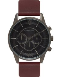 Unknown - Engineered Stainless Steel And Leather Un14en06 Watch - Lyst