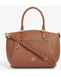 COACH Elise Leather Cross-body Satchel - Brown