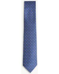 Ferragamo - Hedgehog Print Silk Tie - Lyst