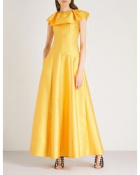 Merchant Archive - Frilled Collar Woven Gown - Lyst