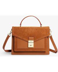 Ted Baker Kimmbas Medium luggage-lock Leather Cross-body Bag - Brown