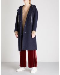 Mo&co. - Nobody Cares Wool-blend Coat - Lyst