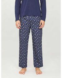 Polo Ralph Lauren Cotton Boat-print Pyjama Pants - Blue