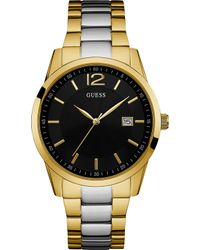 Guess - W0901g4 Perry Gold-plated And Stainless Steel Watch - Lyst