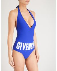 Givenchy - Logo-print Swimsuit - Lyst