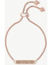 Kendra Scott - Stan 14ct Rose Gold-plated And Rose Gold Drusy Bracelet - Lyst