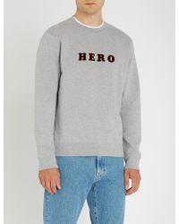 Sandro - Hero Cotton-jersey Jumper - Lyst