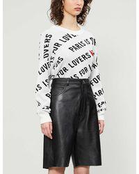 Zadig & Voltaire Anouk Graphic-print Cotton-knit Jumper - Black