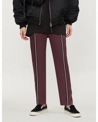 The Kooples - Embellished Stripe Crepe Regular-fit Trousers - Lyst