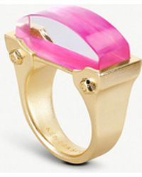 Kendra Scott - Jeanne 14ct Gold-plated Mother Of Pearl Cocktail Ring - Lyst