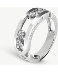 Messika - Move 18ct White-gold And Diamond Ring - Lyst