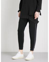 5cm - Contrast-stitch Mid-rise Cotton-jersey Jogging Bottoms - Lyst