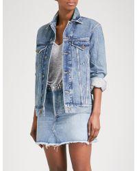 Agolde Jessie Oversized Denim Jacket - Blue