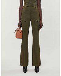 Pinko Apemaya Linen-blend Pants - Green