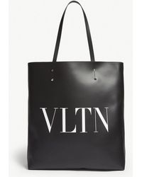 Valentino - Vltn Leather Tote - Lyst