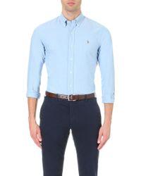 Polo Ralph Lauren | Embroidered Logo Slim Fit Single Cuff Shirt | Lyst