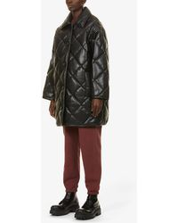 STAND Jacey Quilted Faux-leather Jacket - Black