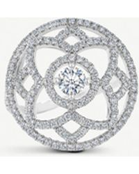 De Beers - Enchanted Lotus White-gold Diamond Cocktail Ring - Lyst