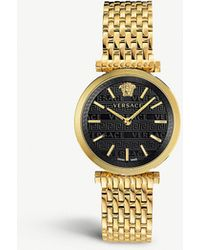 fd6434c5 Versace Vqu05 0015 Dylos Gold-toned Stainless Steel Watch in ...
