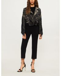 Elie Saab - Bead-embellished Fringed Leather Jacket - Lyst