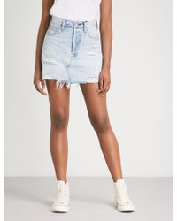 Levi's - Deconstructed High-rise Denim Skirt - Lyst