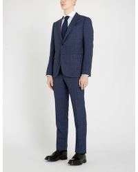 Emporio Armani - Checked Modern-fit Wool Suit - Lyst