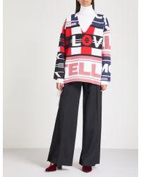 Stella McCartney - Logo-intarsia Wool-blend Jumper - Lyst
