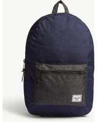 Herschel Supply Co. - . Peacoat Dark Blue And Black Crosshatch Settlement Backpack - Lyst