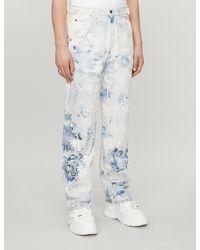 Off-White c/o Virgil Abloh Regular-fit Reconstructed Jeans - Blue