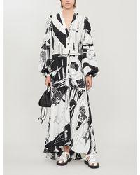 Loewe Salome Printed Shirt Dress - Black