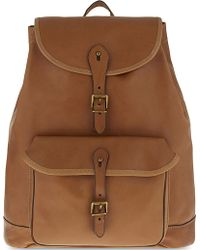Polo Ralph Lauren Drawstring Leather Backpack - Brown