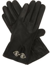 The Kooples - Engraved Clasp Leather Gloves - Lyst