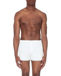 The Kooples Sport - Striped-detail Cotton-blend Boxer Shorts - Lyst