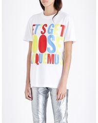 House of Holland Jacquemus Slogan Cotton-jersey T-shirt - Black