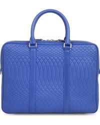 Paul Smith No.9 Leather Business Folio Bag - Blue
