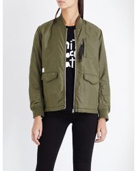Chocoolate - Pocket-detail Shell Bomber Jacket - Lyst