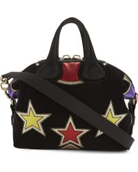 Givenchy - Nightingale Small Multi-Star Suede Shoulder Bag - Lyst