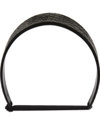 Givenchy - Croc-embossed Leather Headband - Lyst
